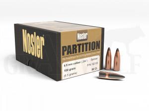 .264 / 6,5 mm 100 gr / 6,5 g Nosler Partition Geschosse 50 Stück