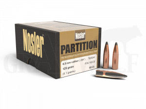.264 / 6,5 mm 125 gr / 8,1 g Nosler Partition Geschosse 50 Stück