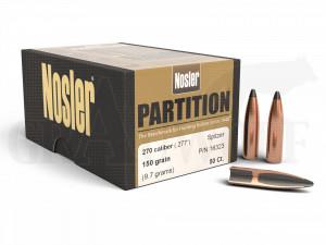 .277 / 7 mm 150 gr / 9,7 g Nosler Partition Geschosse 50 Stück
