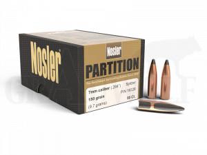 .284 / 7 mm 150 gr / 9,7 g Nosler Partition Geschosse 50 Stück