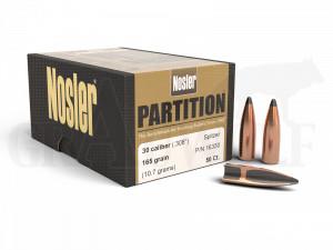 .308 / 7,62 mm 165 gr / 10,7 g Nosler Partition Geschosse 50 Stück