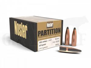 .338 / 8,5 mm 225 gr / 14,6 g Nosler Partition Geschosse 50 Stück