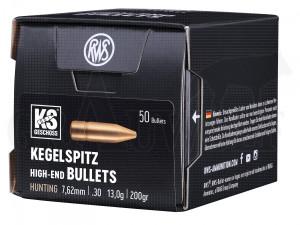 .308 / 7,62 mm 200 gr / 13,0 g RWS KS Geschosse 50 Stück