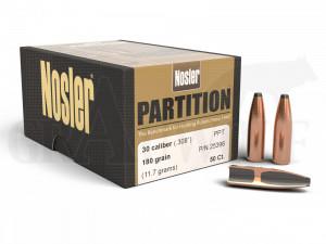 .308 / 7,62 mm 180 gr / 11,7 g Nosler Partition PP Geschosse 50 Stück