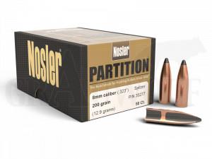 .323 / 8 mm 200 gr / 13,0 g Nosler Partition Geschosse 50 Stück