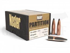 .308 / 7,62 mm 200 gr / 13,0 g Nosler Partition Geschosse 50 Stück