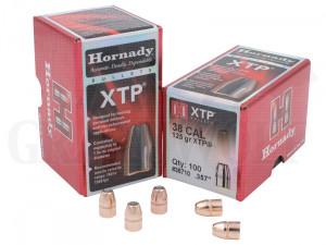 .357 / 9 mm 125 gr / 8,1 g Hornady XTP HP Geschosse 100 Stück