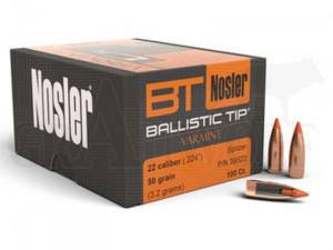 .224 / 5,6 mm 50 gr / 3,2 g Nosler Ballistic Tip Varmint Geschosse 100 Stück