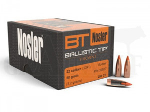 .224 / 5,6 mm 50 gr / 3,2 g Nosler Ballistic Tip Varmint Geschosse 250 Stück