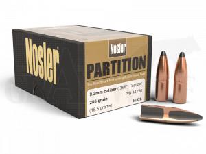 .366 / 9,3 mm 286 gr / 18,5 g Nosler Partition Geschosse 50 Stück