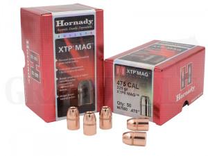 .475 / 12,1 mm 325 gr / 21 g Hornady HP/XTP Geschosse 50 Stück