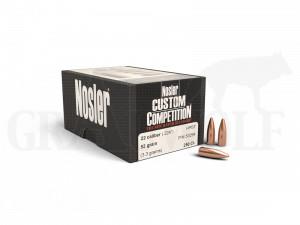 .224 / 5,6 mm 52 gr / 3,4 g Nosler Custom Competition HPBT Geschosse 250 Stück