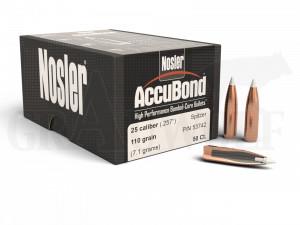 .257 / 6,5 mm 110 gr / 7,1 g Nosler AccuBond Geschosse 50 Stück