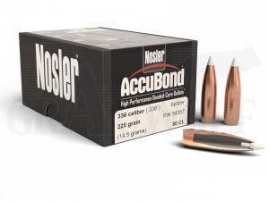 .338 / 8,5 mm 225 gr / 14,6 g Nosler AccuBond Geschosse 50 Stück