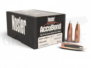 .323 / 8 mm 200 gr / 13,0 g Nosler AccuBond Geschosse 50 Stück