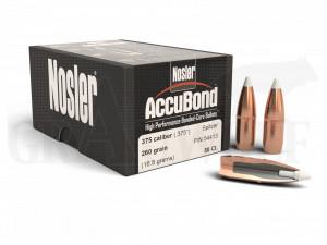 .375 / 9,5 mm 260 gr / 16,8 g Nosler AccuBond Geschosse 50 Stück
