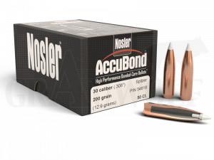 .308 / 7,62 mm 200 gr / 13,0 g Nosler AccuBond Geschosse 50 Stück