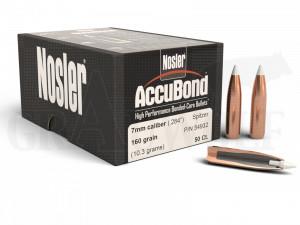.284 / 7 mm 160 gr / 10,4 g Nosler AccuBond Geschosse 50 Stück