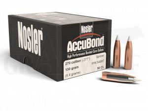 .277 / 7 mm 130 gr / 8,4 g Nosler AccuBond Geschosse 50 Stück
