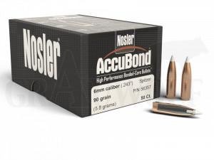 .243 / 6 mm 90 gr / 5,8 g Nosler AccuBond Geschosse 50 Stück