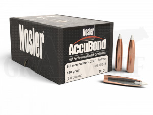 .264 / 6,5 mm 140 gr / 9,1 g Nosler AccuBond Geschosse 50 Stück