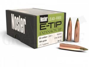.308 / 7,62 mm 180 gr / 11,7 g Nosler E-Tip Bleifrei Geschosse 50 Stück