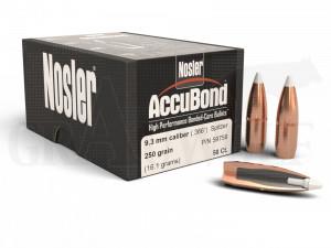 .366 / 9,3 mm 250 gr / 16,2 g Nosler AccuBond Geschosse 50 Stück