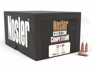.224 / 5,6 mm 69 gr / 4,4 g Nosler Custom Competition HPBT Geschosse 1000 Stück