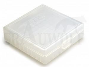 Berry´s Klappdeckelbox #001 weiß für 100 Patronen 9 mm Para