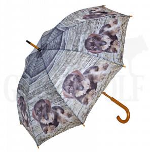 Regenschirm Motiv Rauhhaardackel 115 cm