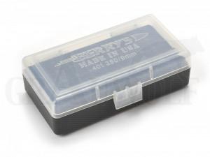 Berry´s Klappdeckelbox #401 weiß für 50 Patronen 9 mm Para