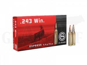 .243 Winchester 76 gr / 4,9 g Geco Express Patronen 20 Stück