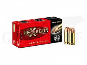 45 ACP 200 gr / 13 g Geco Hexagon Patronen 50 Stück