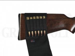 GrovTec Gewehrschaftpatronenhalter für 6 Patronen mit Klappe