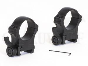 Recknagel PSG Aufkippmontage Alu mit Polyformhebel Ringdurchmesser 30 mm BH 14 mm