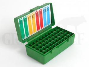 MTM Klappdeckelbox P50-32 grün für 50 Patronen: .25 ACP (6,35 Browning) bis .32 long Colt