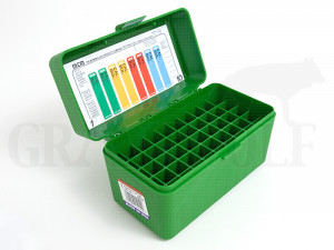 MTM Klappdeckelbox RSS-50 grün für 50 Patronen: PPC, 7,62 x 39, 8x33