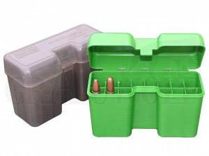 MTM Klappdeckelbox RF22-LM grün für 22 Patronen z.B Ultra Mag