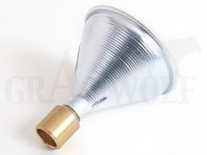 Satern Pulvertrichter aus Aluminium mit Messingauslauf Kaliber .22 - .30 Antistatisch