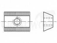 Recknagel Zentrale Klemmleiste 45° Aufnahmeprisma (Zeiss Innenschiene)