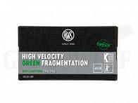 .22 lfB RWS High Velocity Green Fragmentation Randfeuerpatronen 50 Stück