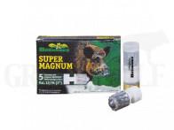 12/76 Brenneke Super Magnum Patronen mit Flintenlaufgeschossen 5 Stück