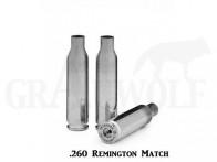.260 Remington Peterson Cartridge Comp. vernickelte Match Hülsen 50 Stück