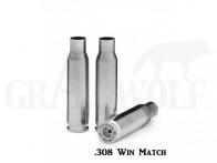 .308 Winchester Peterson Cartridge Comp. vernickelte Match Hülsen 50 Stück
