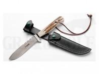 AKAH Jagdmesser mit Hirschhorngriff