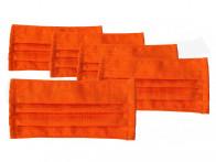 Gesichtsmaske für Mund und Nase orange 5 Stück
