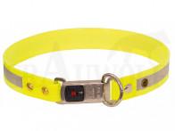 AKAH BioThane Hundehalsband neongelb mit Steckverschluss variabel bis 60 cm