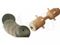 Eisenkopfscheibe für Apportierbock