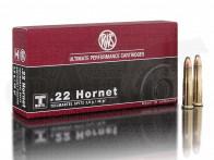.22 Hornet 46 gr / 3 g RWS Teilmantel Spitz Patronen 20 Stück