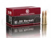 .22 Hornet 46 gr / 3 g RWS Jagd - Match Patronen 50 Stück